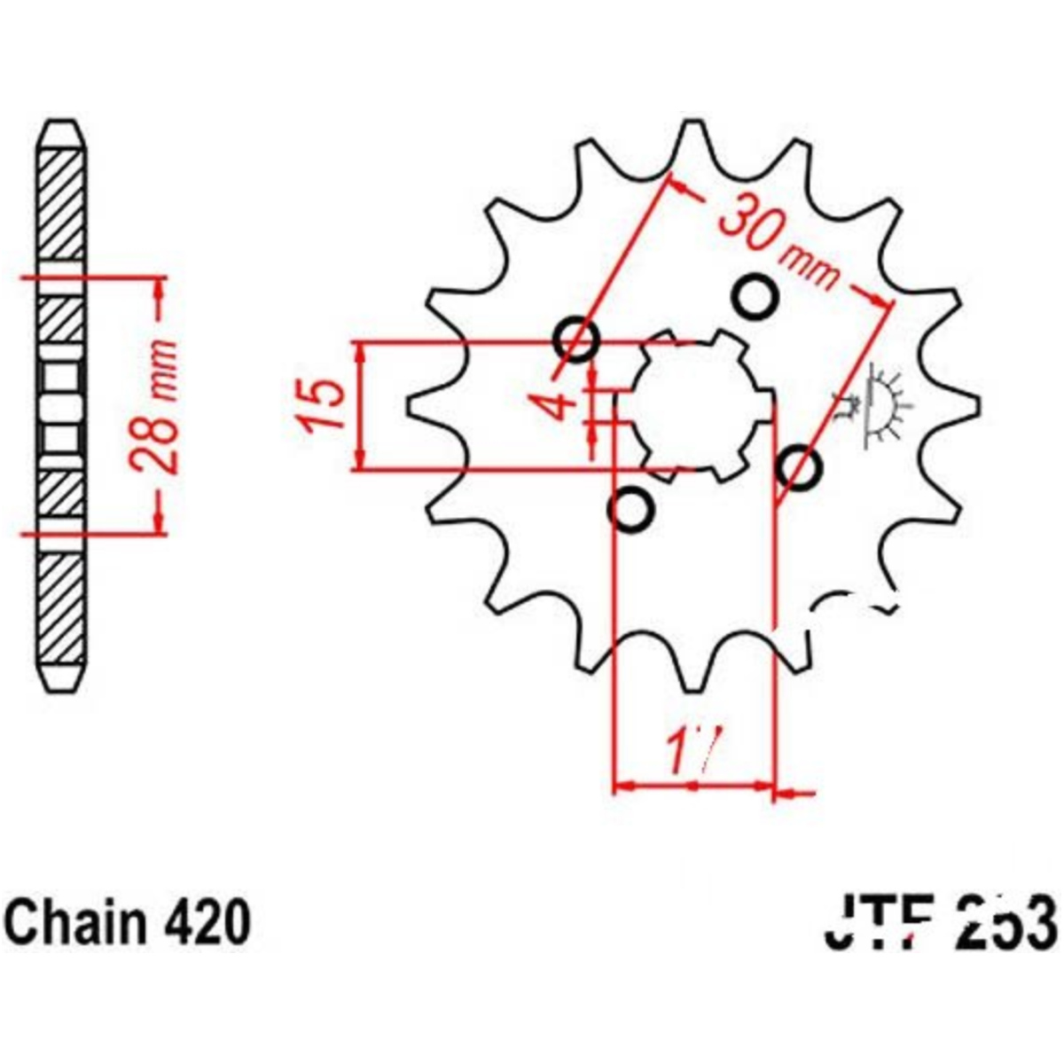 Front Sprocket 14tooth Pitch 420 Jtf25314 Honda Monkey Z50j Wiring Diagram