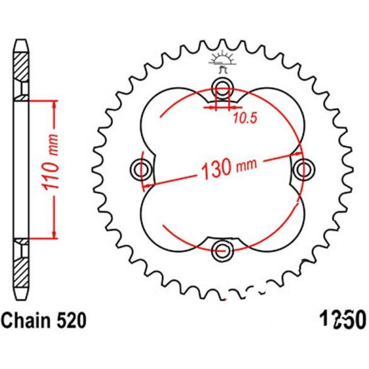 Honda  CBX550F Primaerkette Führung unten  neu Original NOS Parts