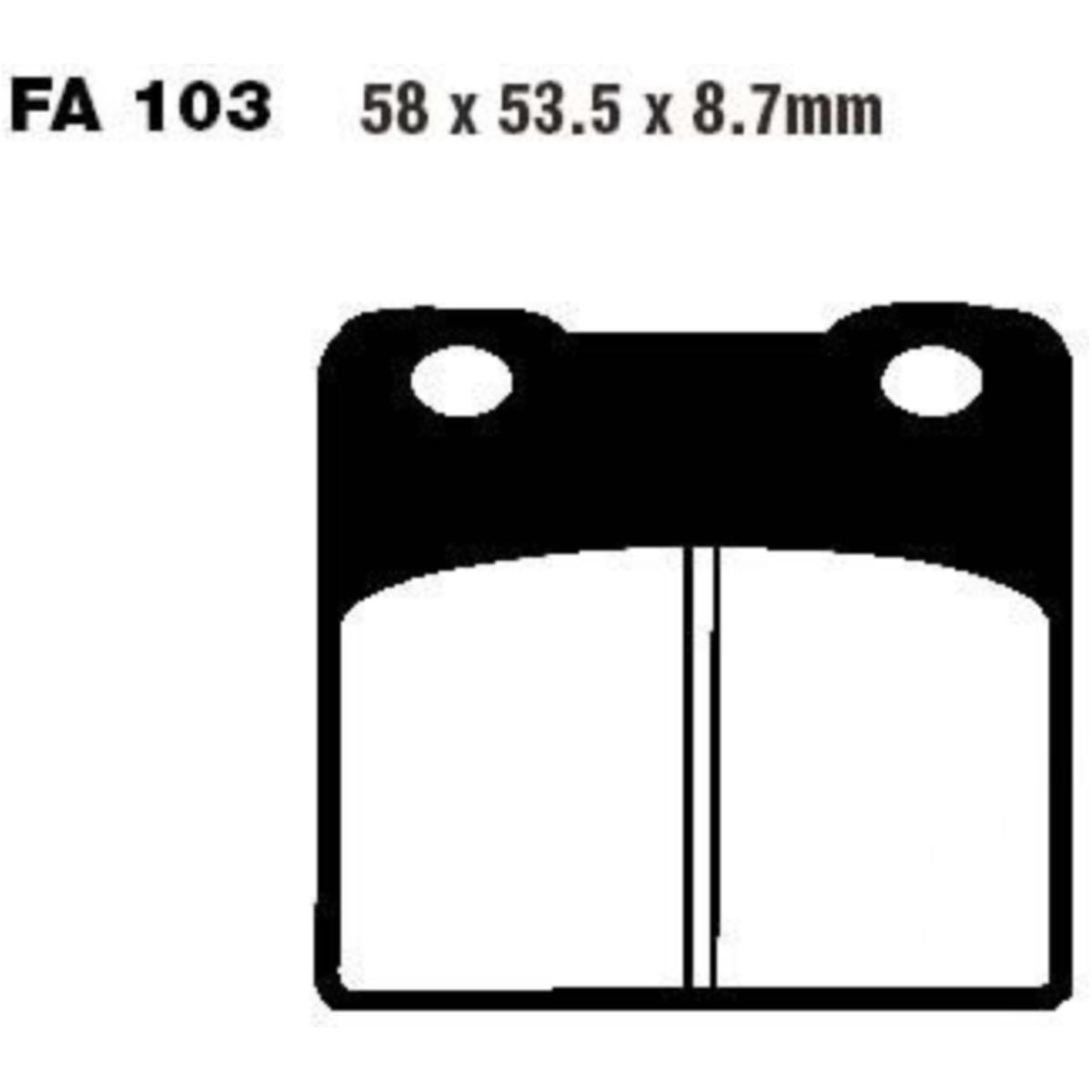 FA103 EBC Bremsbeläge organisch vorne Suzuki VS 800 Intruder VS52B 1992-2000 NEU