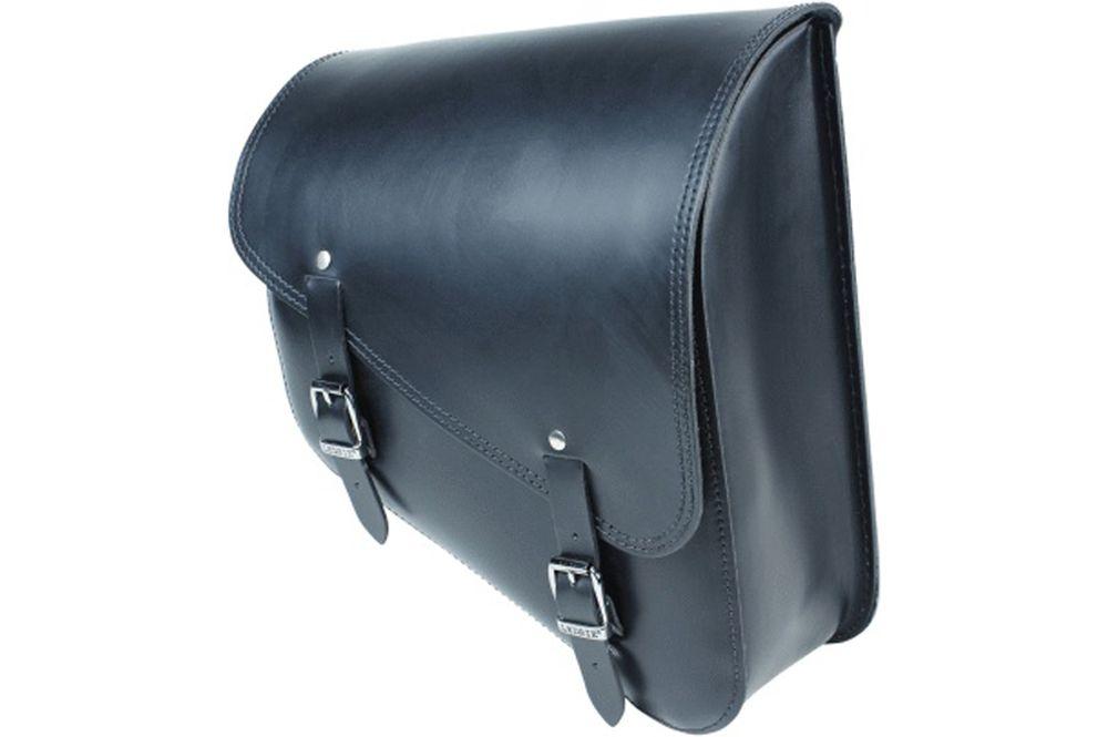 Harley Davidson Softail f Ledrie Satteltasche schwarz Leder 12 Liter