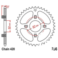 REAR SPROCKET 37 TOOTH PITCH 420 JTR25637