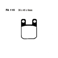 Brake pads scooter ebc SFA115 für Peugeot Speedfight  50 VGA S1BACA 2003-2004, 4,1 PS, 3 kw (vorne)