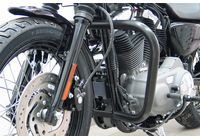 Fehling Crashbar black, HD Sportster Evo ab Bj.04, Custom, Roadster/Low, Nightster/Iron, 48 für Harley Davidson 883 Sportster Super Low  XL2 2014-2014,