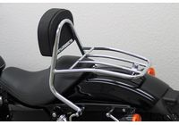 Driver Sissy Bar with backrest and luggage rack, HD Sportster 2004- für Harley Davidson 883 Sportster Super Low  XL2 2014-2014,